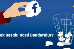 facebook hesabı nasıl dondurulur