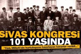 sivas kongresi 101.yıl dönümü mesajları