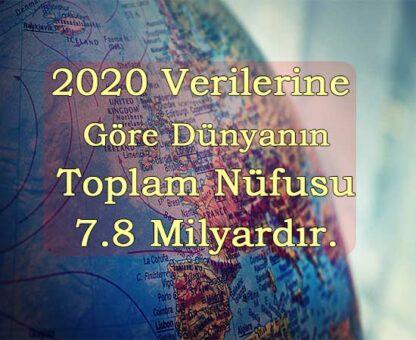 dünyanın toplam nüfusu 2020