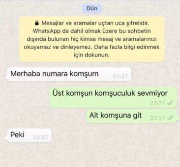 numara komşusu whatsapp