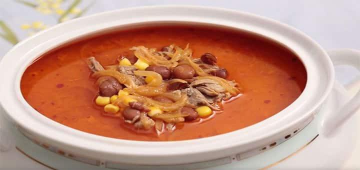 etli mısır çorbası