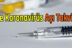 koronavirüs aşı takvimi 2021