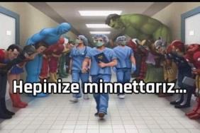 sağlık çalışanlarına teşekkür mesajları