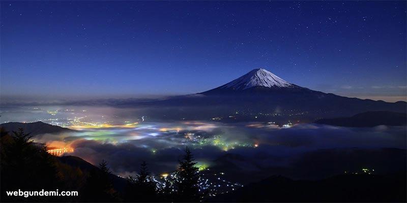 fuji dağı manzara